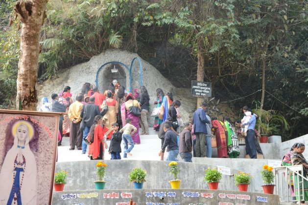 Pilgrims visiting the shrine of Mother Mary in Diang Pilgrimage