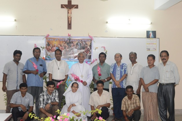 Bishop, Priests and Employees in Bishop's House and Chittagong Cathedral