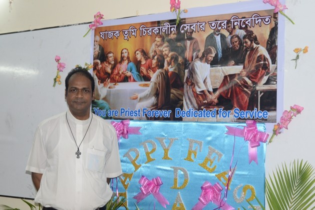 Father Terence Rodrigues on the Priest Day
