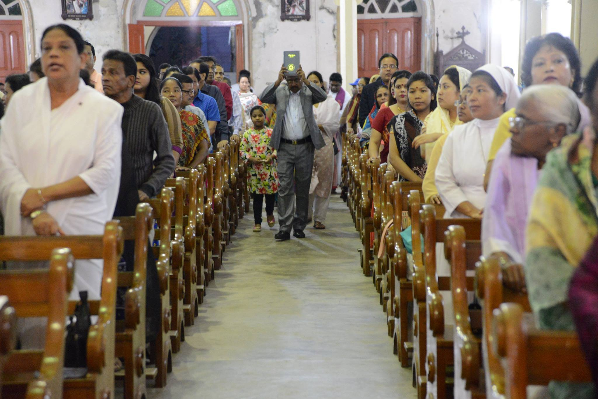 Bible procession before the mass to open the 5th centenary of propagation of faith in Chittagong