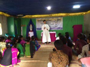 Fr. Somor Dango sharing on the main theme
