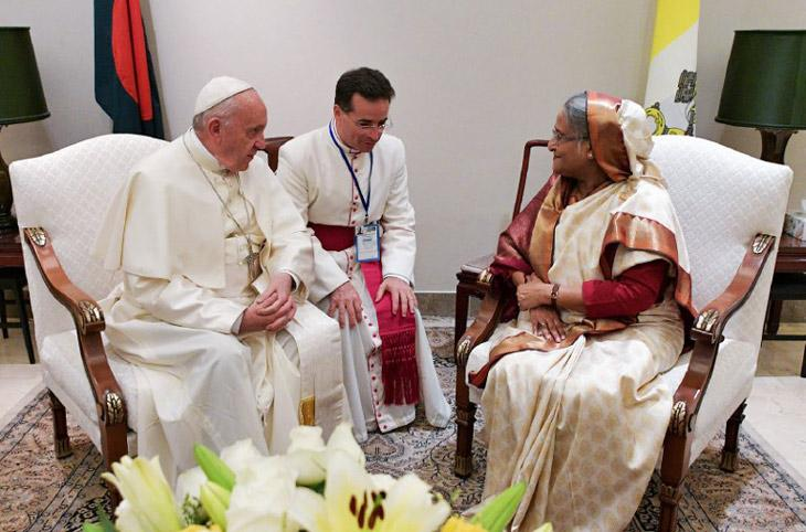 Meeting between Pope Francis and Bangladesh PM Sheikh Hasina