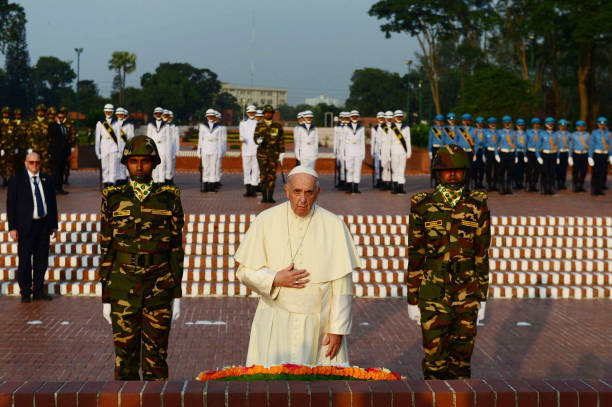 Pope Francis at National Monument, Savar