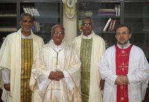 SVD Fathers with ABP Moses Costa, csc