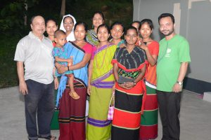 Mr. Robi Christopher D'Costa with the parishoners of CHT and members of PST team