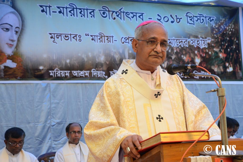 Archbishop Moses Costa, CSC is sacrificing the Holy Eucharist on Friday, 9th February 2018