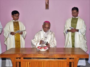 Archbishop Moses Conducting the blessing ceremony