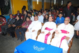Father Philip is bidding farewell to Bishop Patrick from Chittagong-2011