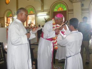 Father Philp with Bishop Moses at his installation ceremony in Chittagong-2011
