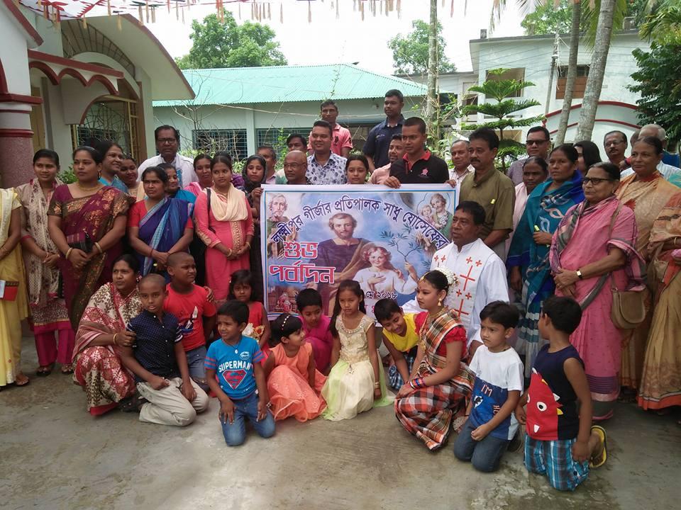 Participants in the feast of St. Joseph at Luxmipur Sub-parish
