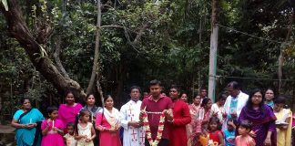 Procession on the feast of St. Joseph at Luxmipur Parish