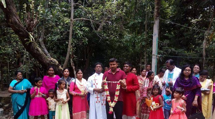 Procession on the feast of St. Joseph at Luxmipur Parish