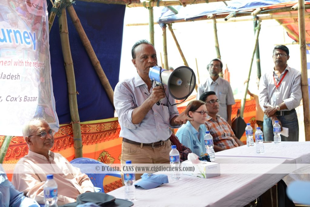 Executive Director of Caritas Bangladesh Francis Atul Sarkar during the Caritas Campaign 'Share a meal'