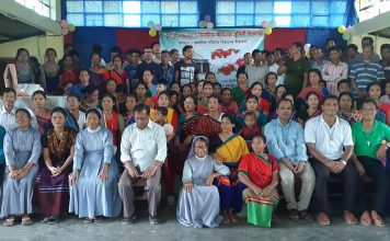 Participants in the Couples' Seminar in Thanchi
