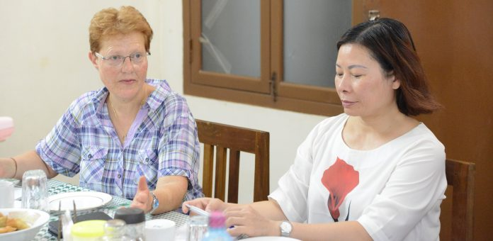 Head of ACN Section Asia II Ms. Vogel and her assistant Ms. Tan