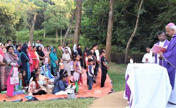 Archbishop Moses offer Mass in Diang Old Graveyard