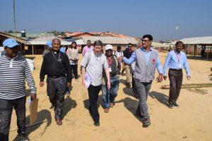Cardinal Tagle Visiting Rohingya Refugee Camp