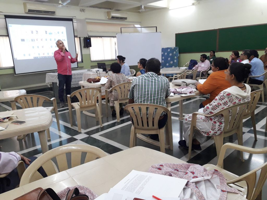 A session in the TOT training on 'Laodato Si' Handbook