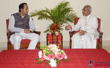 Deputy Minister for Education Barister Nowfel Visits Archbishop of Chittagong